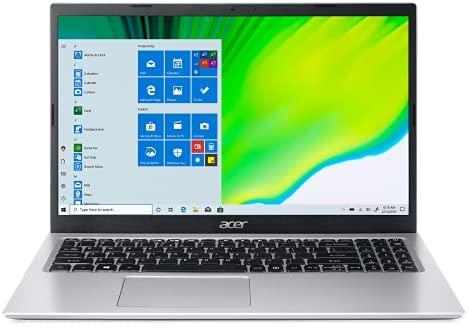 """Acer Aspire 1 15.6"""" FHD Laptop Computer, Intel Celeron N4500 up to 2.8GHz, 4GB DDR4 RAM, 256GB Storage (128GB eMMC + 128GB SD Card), AC WiFi, BT 5.0, Pure Silver, 1 Year Microsoft 365, Windows 10 S"""