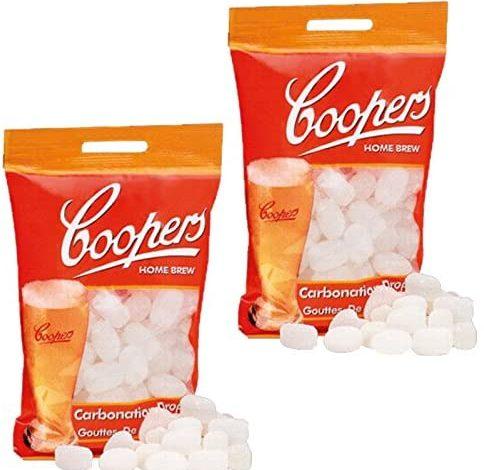 2x Coopers Carbonation Drops 80 250g Sugar Tablets for priming beer & cider