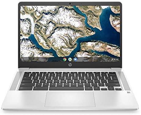 "2020 Flagship HP 14 Chromebook Laptop Computer 14"" HD SVA Anti-Glare Display Intel Celeron N5000 Processor 4GB DDR4 64GB eMMC Backlit WiFi Webcam Chrome OS"