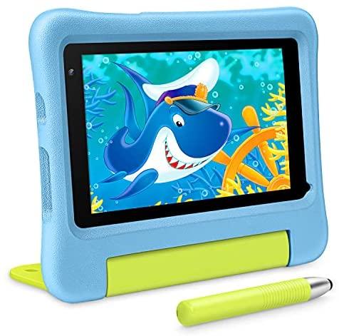 VAN KYO MatrixPad S7 Kids Tablet 7 inch, Android 9.0 Pie, 32GB ROM, 2GB RAM, COPPA Certified KIDOZ& Google Play Pre-Installed, Kid-Proof Case, Wi-Fi, Eye Health Mode, Blue