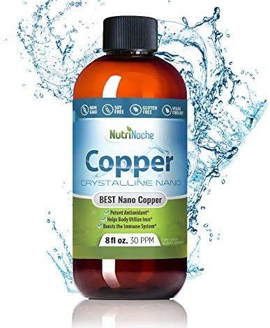 NutriNoche Pure Crystalline Liquid Copper Supplement - 30 PPM - Colloidal Minerals