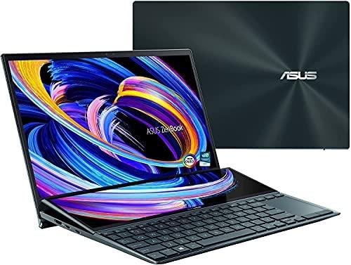 "CUK ASUS ZenBook Pro Duo 15 Creator Laptop with Screenpad Plus (Intel i9-10980HK, 32GB RAM, 1TB NVMe SSD, NVIDIA GeForce RTX 3070, 15.6"" 4K UHD Glossy, Windows 10 Pro) Business Notebook"