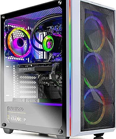 Skytech Chronos Gaming PC Desktop - AMD Ryzen 7 3700X 3.6GHz, Nvidia RTX 3080 10G GDDR6X, 16GB DDR4 3200, 1TB NVMe SSD, 750W Gold PSU, AC WiFi, Windows 10 Home 64-bit