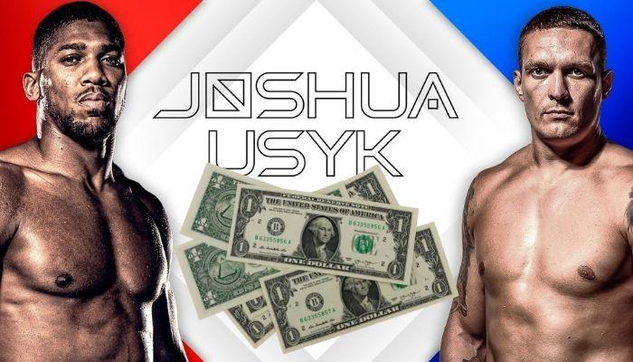 Anthony Joshua vs Oleksandr Usyk Purse, Salaries