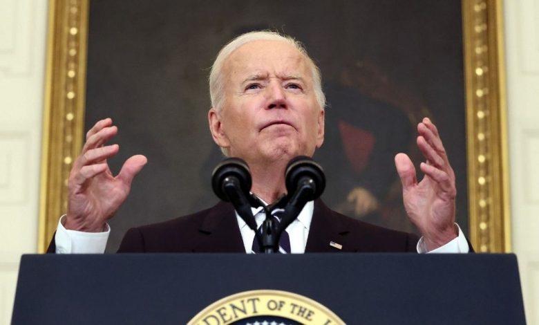 President Joe Biden speaks about combating the coronavirus pandemic from the White House Thursday.