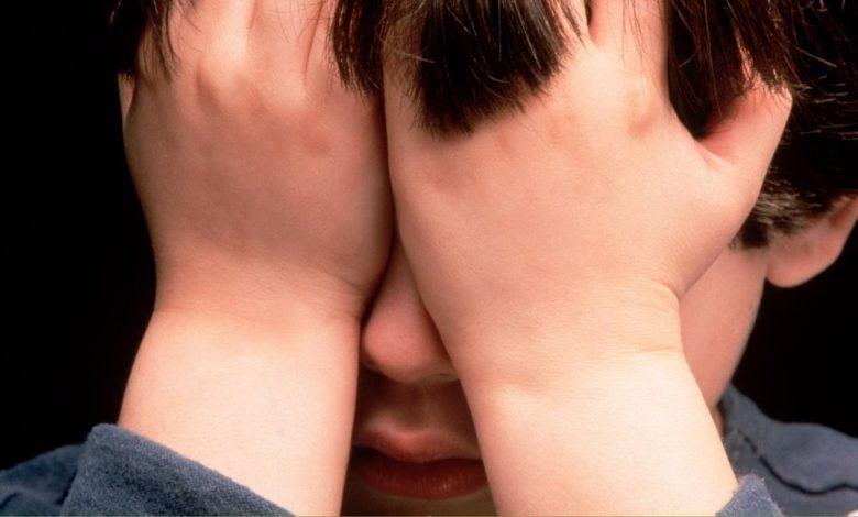 A crying boy