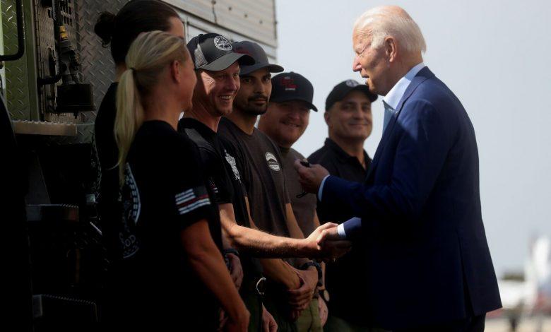 Biden campaigns for Newsom in California recall