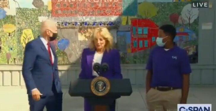 Watch: Joe Biden Stuns Onlookers During Jill Biden's Speech by Appearing to Wander Off Aimlessly