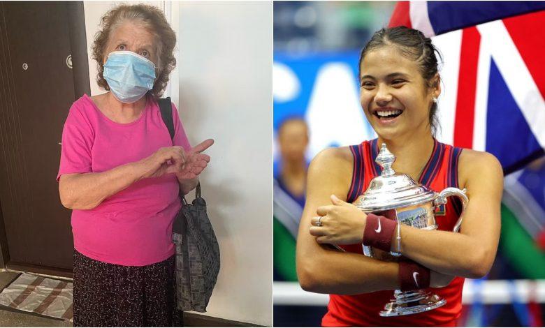 Emma Raducanu and her grandmother Niculina Raducanu