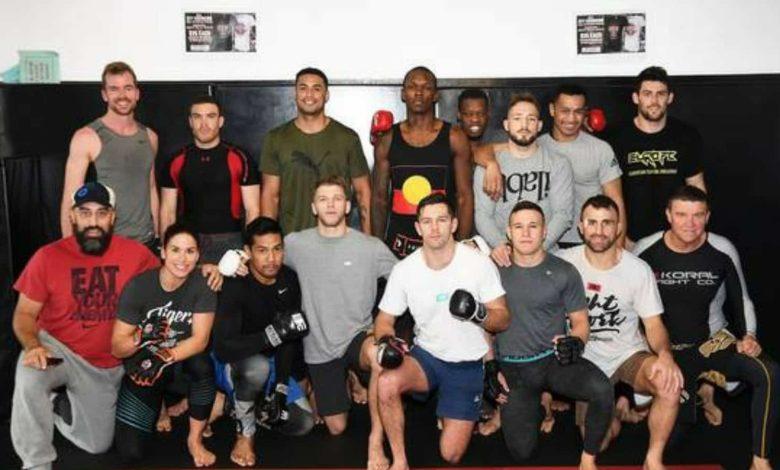 Israel Adesanya at City Kickboxing