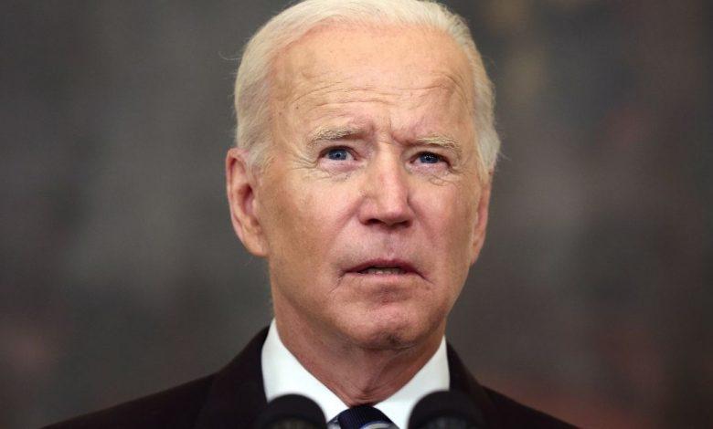 President Joe Biden speaks about combating the coronavirus pandemic at the White House on Thursday.