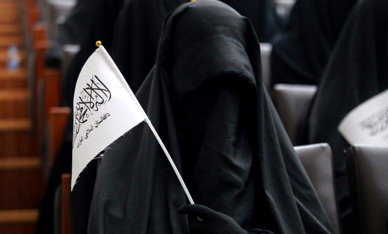 Pro-Taliban women rally in Kabul as female civil servants barred from work