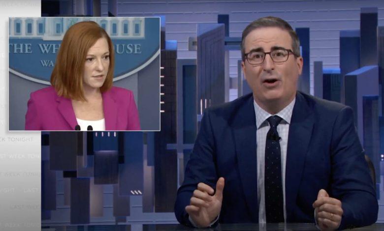 John Oliver Drags Jen Psaki for Blaming Del Rio Migrant-Whipping on Horses