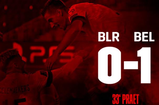 Belarus vs Belgium: Praet