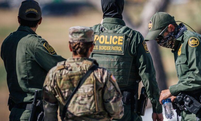 The Texas National Guard and Border Patrol staff a checkpoint entry near the Del Rio International Bridge last week in Del Rio, Texas.