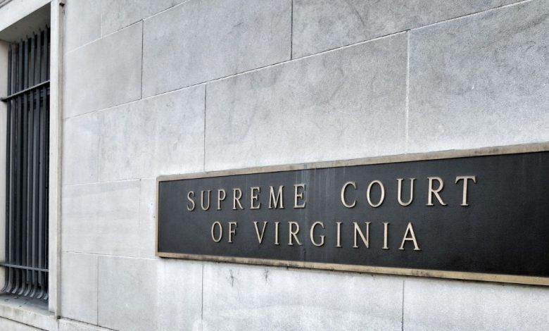 Supreme Court of Virginia Building Sign, Richmond.