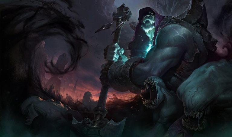 Yorick's Maiden secures solo kill on enemy Aatrox