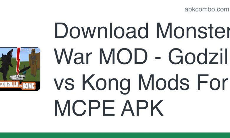 Download Monster War MOD - Godzilla vs Kong Mods For MCPE APK