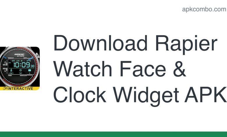 Download Rapier Watch Face & Clock Widget APK