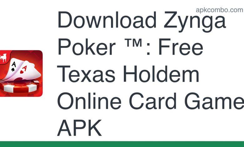 Download Zynga Poker ™: Free Texas Holdem Online Card Games APK