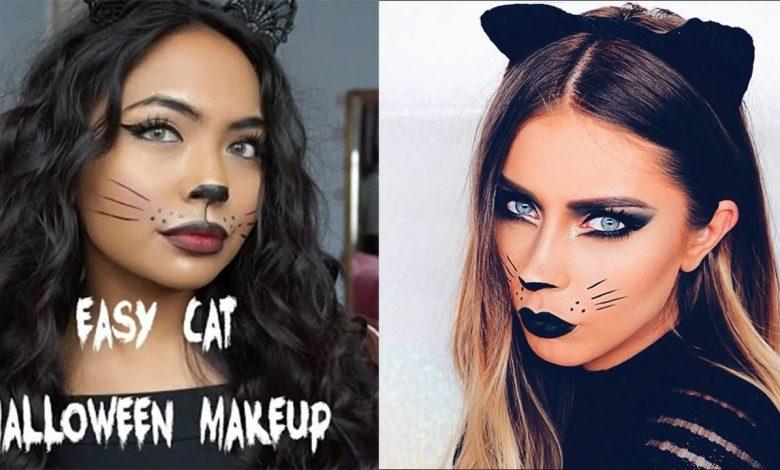 17 Easy Cat Halloween Makeup Ideas & Tutorials of 2021