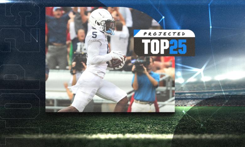 Tomorrow's Top 25 Today: Georgia, Penn State rise as North Carolina falls in new college football rankings