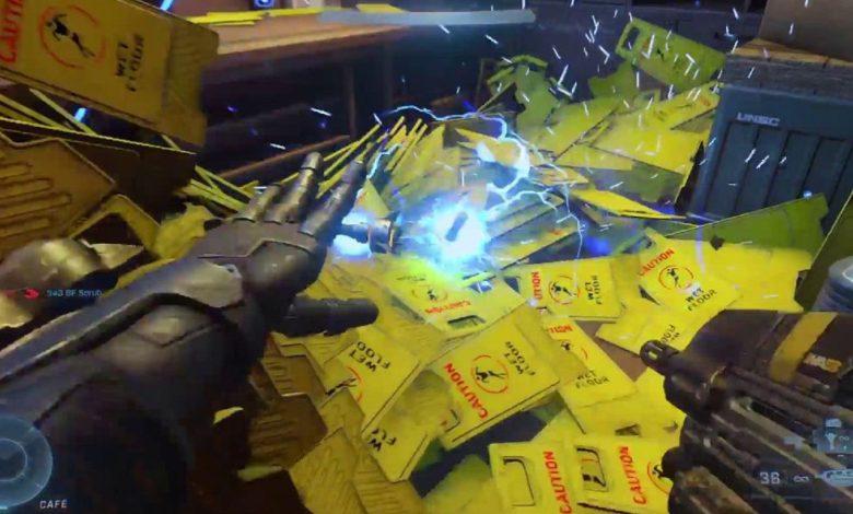 Bizarre Halo Infinite Glitch Causes Flood of Wet Floor Signs