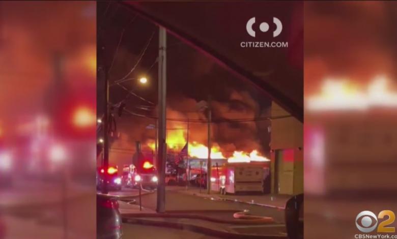 Firefighters Battle Early Morning Blaze In Jersey City – CBS New York