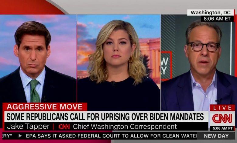 Jake Tapper Slams Biden for 'Scolding' Unvaccinated Americans
