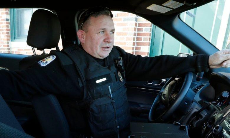 Officer Staunton waits in his patrol car before beginning his patrol through Brooklyn, New York in January 2019.